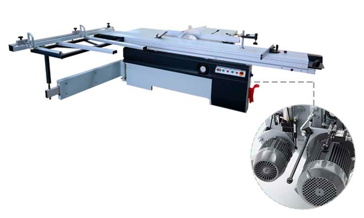 OEM/ODM tilting precise wood cutting sliding table panel saw machine