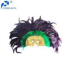 Alibaba Hot Selling Factory Direct Sales Retro Inexpensive Customized Plastic Feather Carnival Masks Party Mask For Halloween