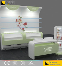 Furnitures for display cabinet of cosmetic with Led Light for Shopping Mall