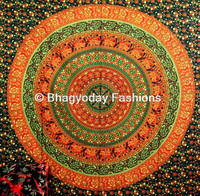 Hippie Hippy Mandala Tapestry Dorm Wall Hanging Indian Tapestry Throw Bedspread Bed Decor Sheet Ethnic Decorative Art