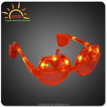 Halloween party favor flashing led sunglasses with Pumpkin shape