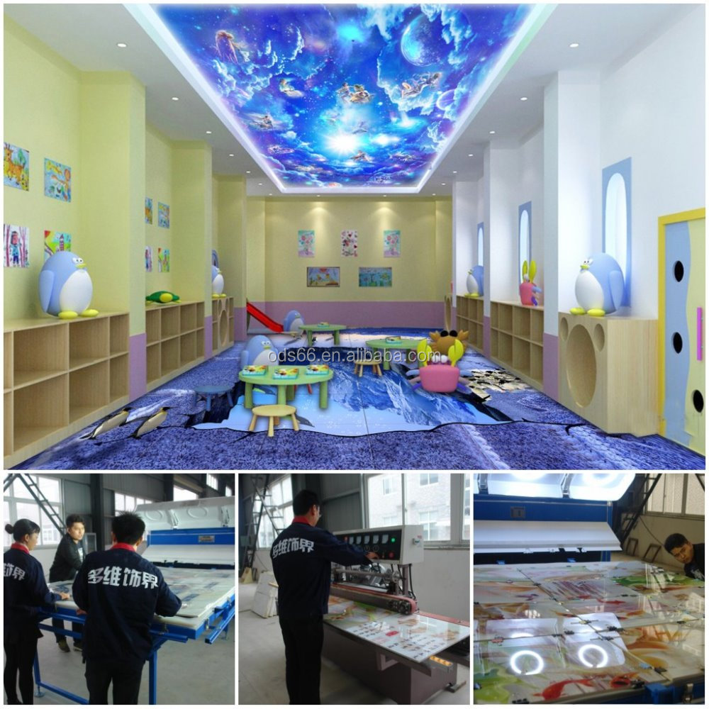 wall / floor / ceiling decoration use 3d glass ceramic machine