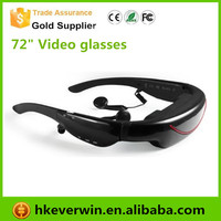 Mobile Theatre virtual video glasses,cinema Eyewear video glasses with 72inch Virtual Screen
