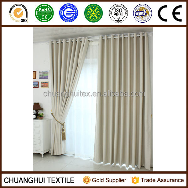 2014 New Arrrival Thermal Insulated polyester hotel blackout curtain non-toxic pinch pleat curtains