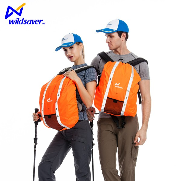Dongguan Wildsaver hiking travel reflective led safety backpack cover