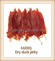 dry duck jerky training snacks chewing dog treats and pet food