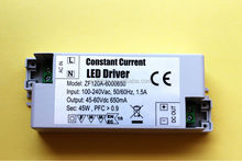 CE CB GS ROHS approved LED driver 24-60W constant current 650mA