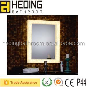 Touch Switch Artificial Marble Board Mirror With Harden LED Strip Light