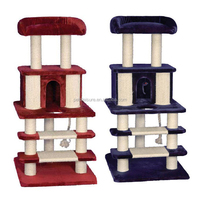 Deluxe Cat Tree of Cat Furniture Condo House Scratcher Toy