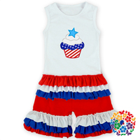 2016 innovative baby Clothes 4th of july set ,baby girl clothing set,kids clothing set for national day