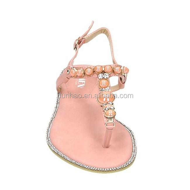 2017 Comfort Wholesale Women Flat Sandals Shoes