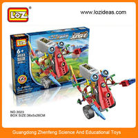Loz diamond particles diy assembly plastic toys electric blocks mechanical robot children's birthday present