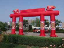 Custom print inflatable lighting arches for advertising