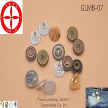 Guanlong brand custom all kinds of metal printing cheap jeans button