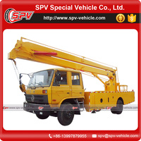 Chinese famous brand Dongfeng 24 M bucket boom truck