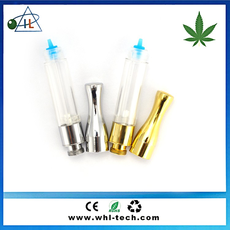 Patented cbd A3 0.4 0.5 1.0ml 510 thc oil vape pens , cbd oil tank cartridge no leak gold ce3 atomizer