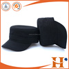 professional customized embroideried logo types of military caps and hats round hat