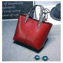 YHX 2018 New Europe fashion women genuine leather hand bags