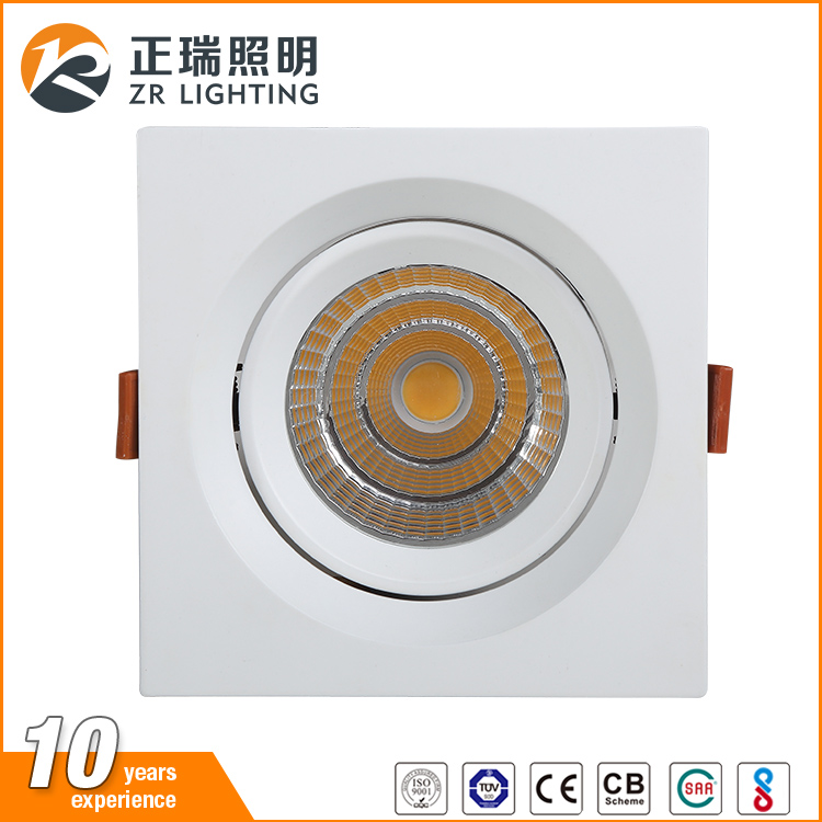 wholesale OEM&ODM indoor decoration 7W 12W 20W 30W dimmable rotatable cob led ceiling spotlight