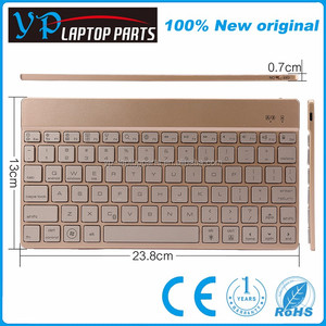 Portable wireless mini usb charging port keyboard with rechargeable Lithium battery