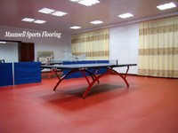 Rubber/pvc court flooring material of table tennis court used