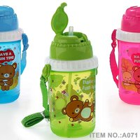 A071 300-400ml plastic kids water bottle shantou shuanghuan viassin travel bottle