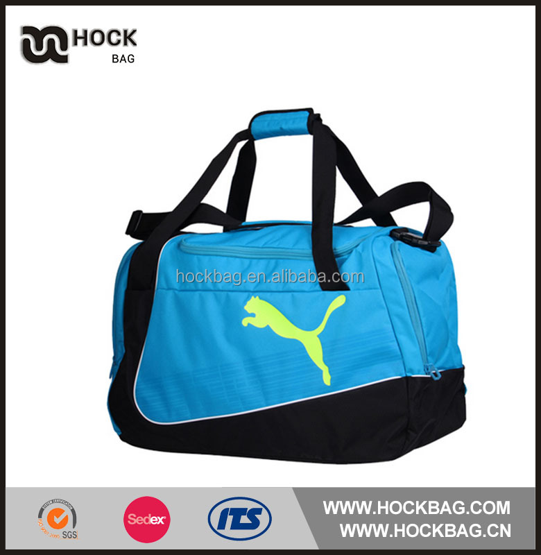 light weight 420D waterproof material sports traveling punch, barrel duffel bag with 3 compartment provide by China supplier
