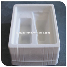 China wholesale cheap blister plastic flocking tray for packing wine/cosmetic