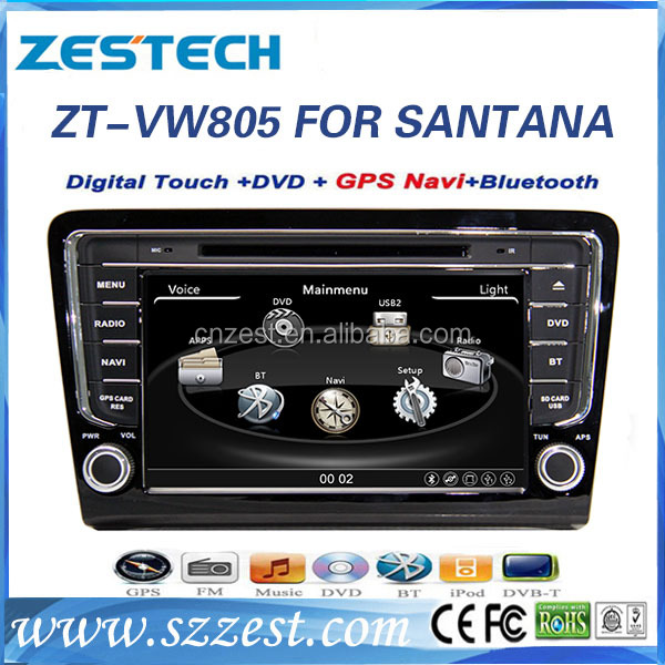 ZESTECH car charger portable dvd player For VW SANTANA BORA 2013 support 3G BT audio DVB-T USB GPS DVD function