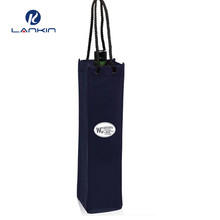 Reusable non woven wine bottle tote bag wholesale, wine glass carrying bag