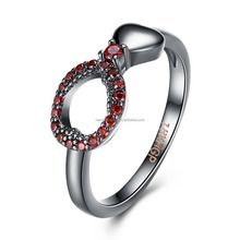 Ouxi Top quality Fashion design Colorful AAA zircon woman antique ring C40154