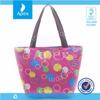 Colorful promotional polyester cosmetic bags
