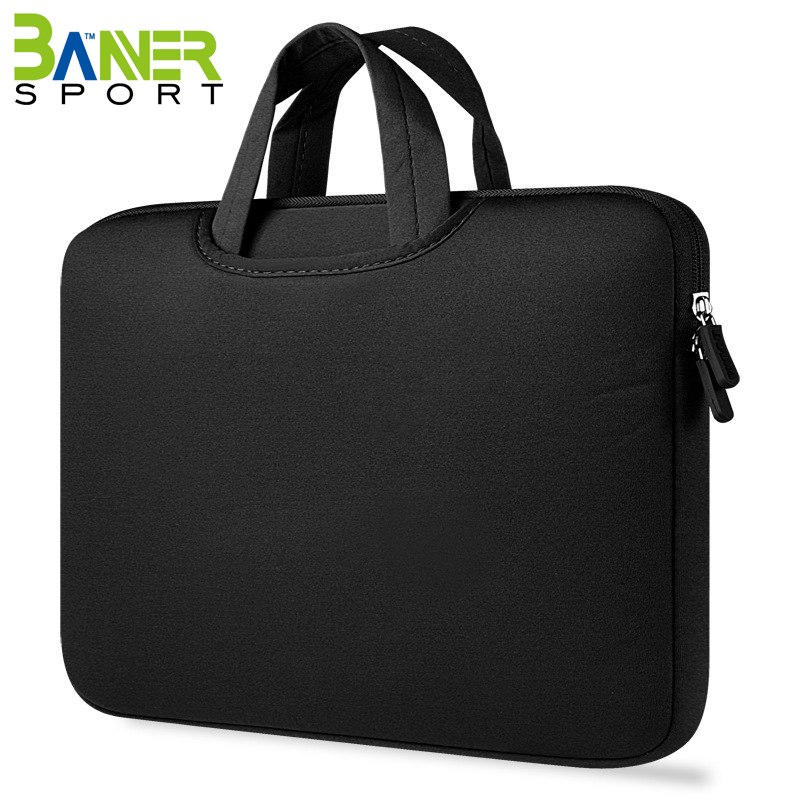 Universal neoprene soft laptop sleeve tote bag carrying case briefcase business office laptop bag for men women
