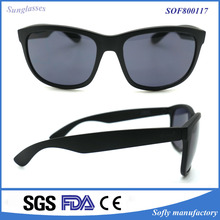 Free Sample Matt Black Color Changing Sunglasses