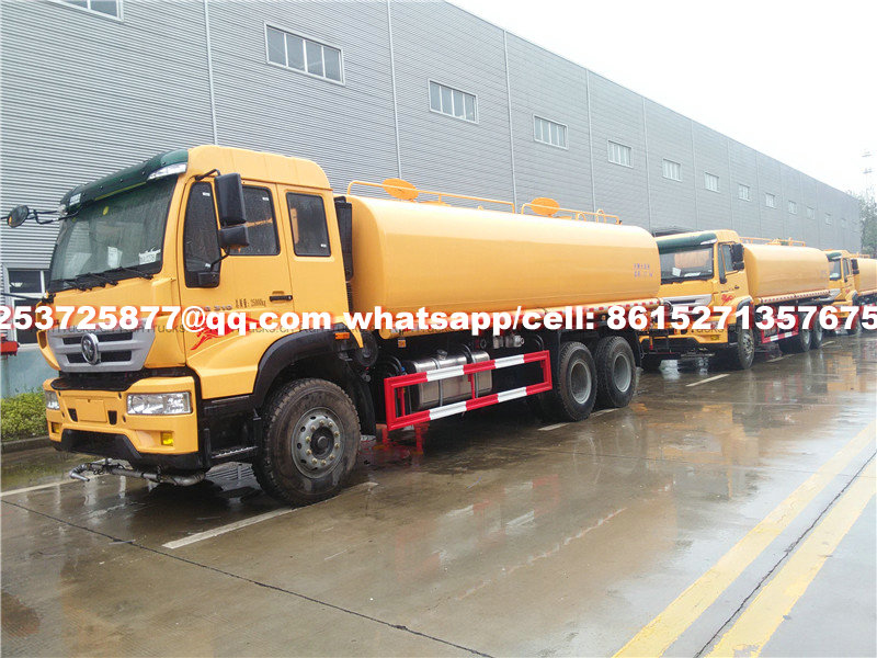 China Howo 18m3 water tanker truck Euro 5 cell: 8615271357675