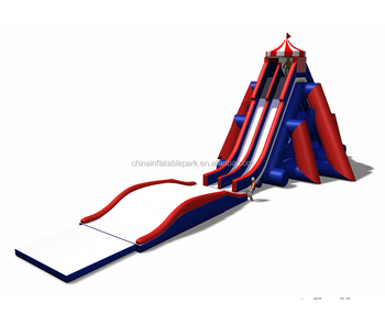 Commerical High Quality Inflatable Hurricane Water Slide With Pool