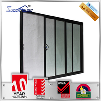 AS2047 Australian standard thermo break double glazed aluminium sliding glass doors