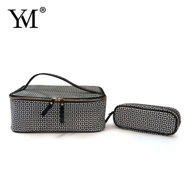 fashion professional pvc leather special pattern cosmetic gift box makeup case