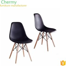 Modern ABS dinning room table dining plastic chair with solid wood foot for dining roomCM-DC001