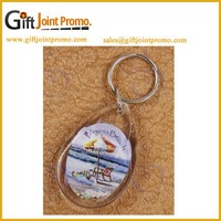 Customized Acrylic Photo Frame Keychain/Keyring, Wholesale Keychain