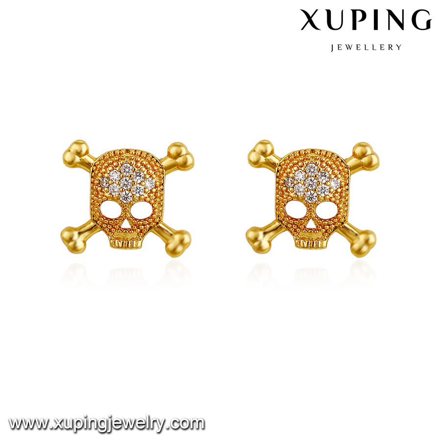 93241-xuping fashion skull 24k gold arabic gold jewelry