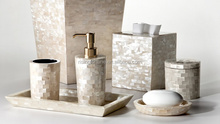 Mother of pearl hotel bathroom accessories