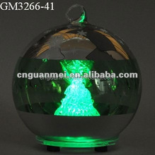 lighted laser cut glass ball decoration