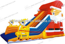 2013 alibaba hot selling 0.55mm PVC merry christmas inflatable festival slide