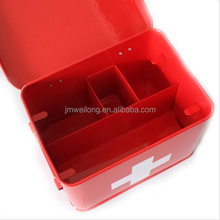 Galvanized metal medical supplies first Aid box