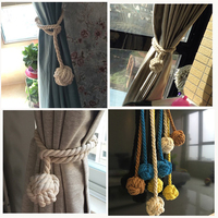 100 Cotton Rope Tieback Natural Curtain
