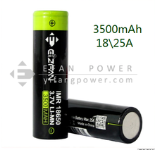 Latest High Capacity Efan 18650 3.7v 3500mah 25A Rechargeable 18650 Battery For Smoking pipes