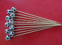 football pattern bead bamboo sticks