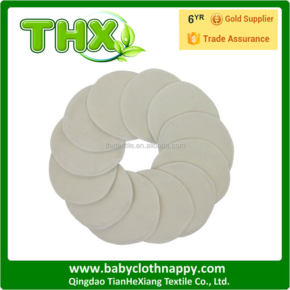 THX new arrival washable cloth nursing pads organic cotton flat nursing pads breast pad low moq