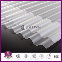 Lixin 0.8mm-2mm corrugated polycarbonate roofing sheet